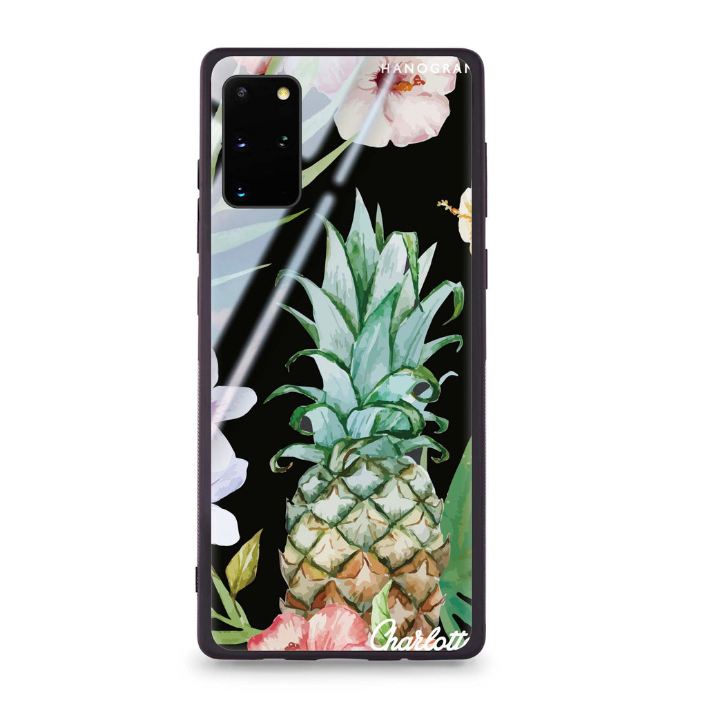 Pineapple & Floral Samsung S20 Plus Glass Case