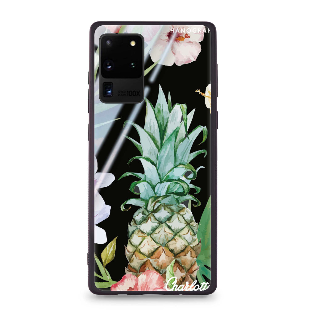 Pineapple & Floral Samsung S20 Ultra Glass Case