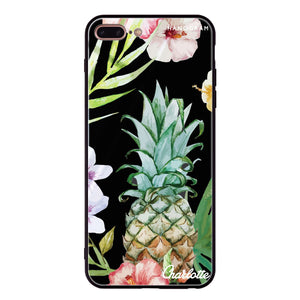 Pineapple & Floral iPhone 8 Plus Glass Case