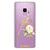 Golden Floral Monogram Samsung S9 Soft Clear Case
