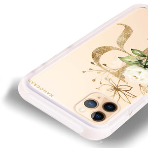 Golden Floral Monogram Shockproof Bumper Case