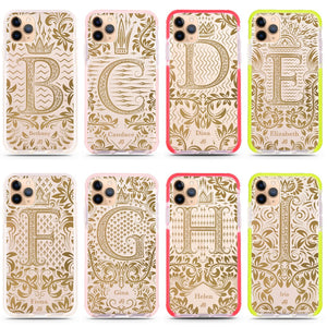 Royal Vintage Monogram Frosted Bumper Case