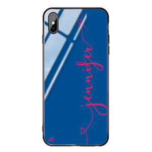 Think Different Princess Blue Glass Case