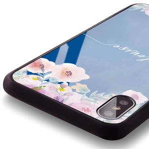 Art of Floral Princess Blue Glass Case