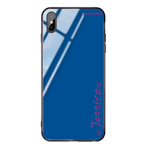 In my heart Princess Blue Glass Case