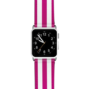 Classic Stripe Pink APPLE WATCH BANDS