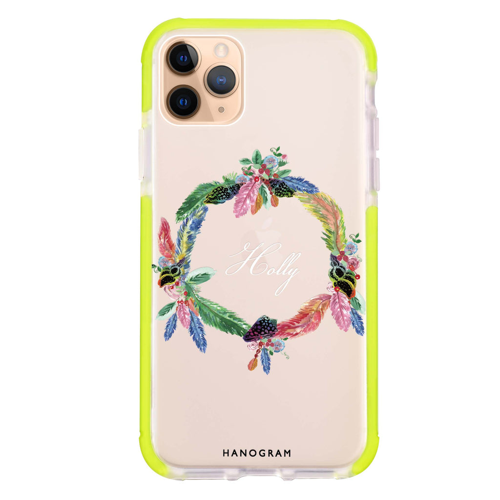 Watercolour Feather iPhone 11 Pro Max Shockproof Bumper Case