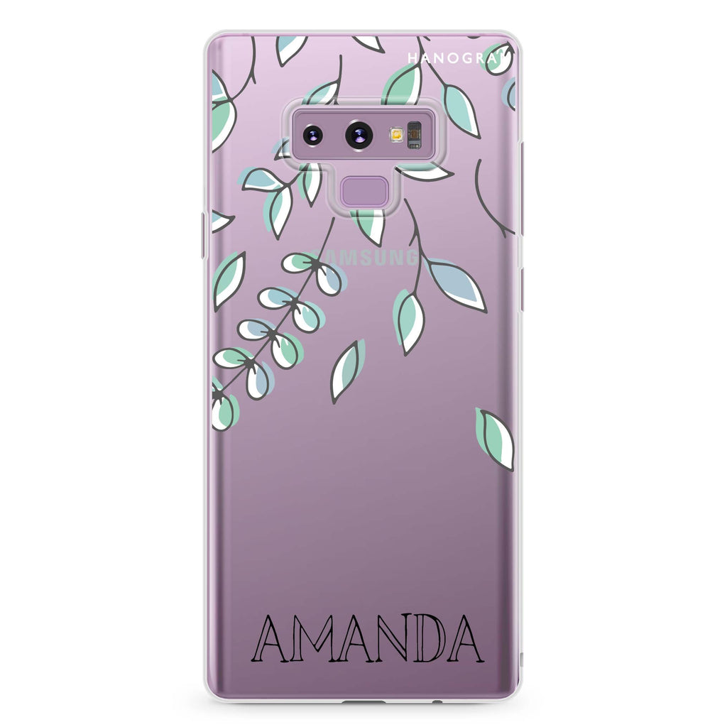 Fall Leaf Samsung Note 9 Soft Clear Case