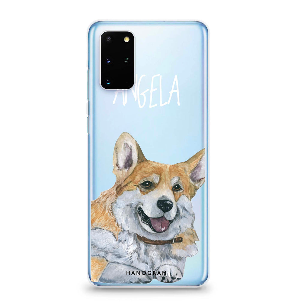 Corgi Samsung S20 Plus Soft Clear Case