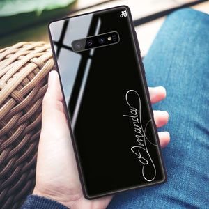 Cursive I Samsung S10 Plus Glass Case
