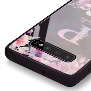 Gorgeous Monogram Samsung S10 Plus Glass Case