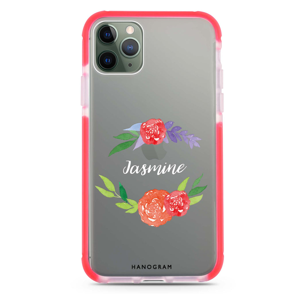 Floral Circle Shockproof Bumper Case