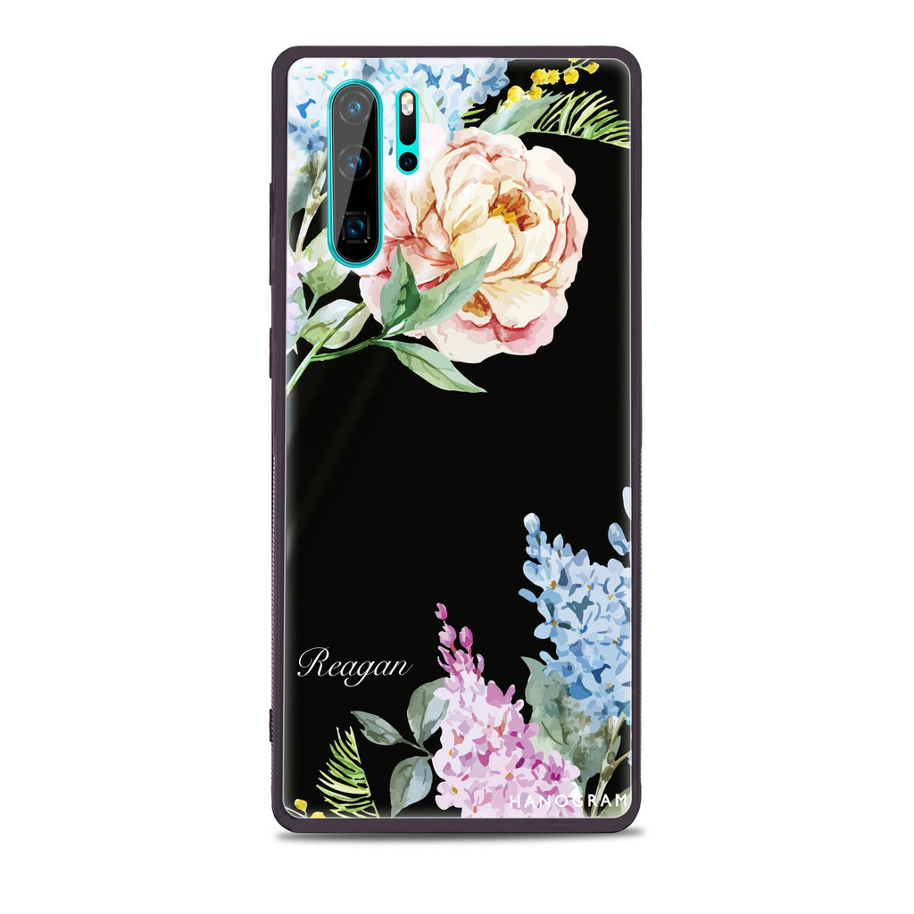 Tropical Floral Huawei Glass Case