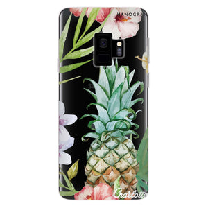 Pineapple & Floral Samsung S9 Soft Clear Case