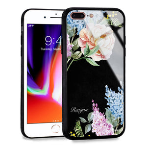 Tropical Floral iPhone 8 Plus Glass Case