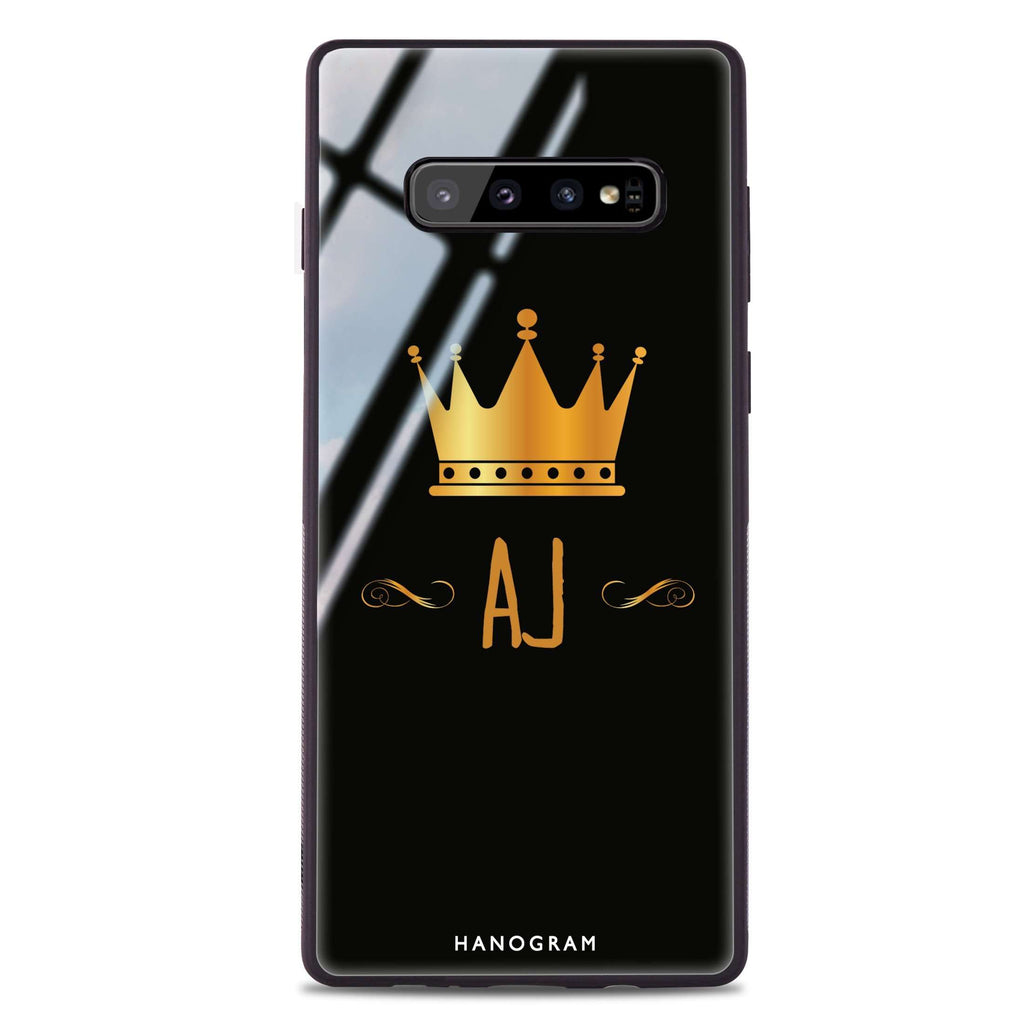 King's crown Samsung S10 Plus Glass Case