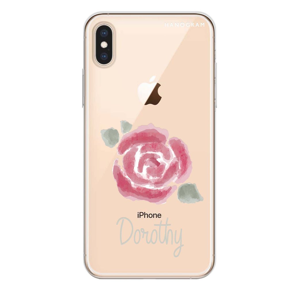 Kiss From A Rose iPhone XS Max Soft Clear Case