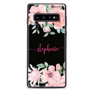 Forever Love Rose Samsung S10 Plus Glass Case