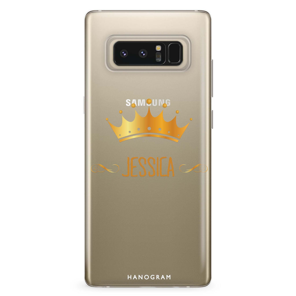 Queen's crown Samsung Note 8 Soft Clear Case
