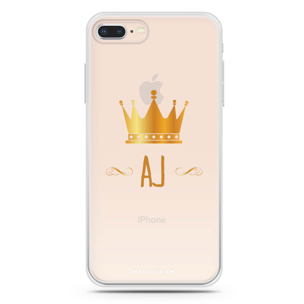 King's crown iPhone 8 Soft Clear Case