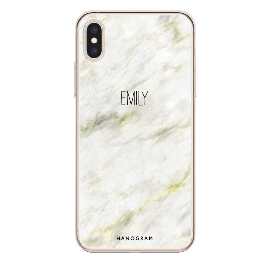 Grand Marble II iPhone XS Soft Clear Case