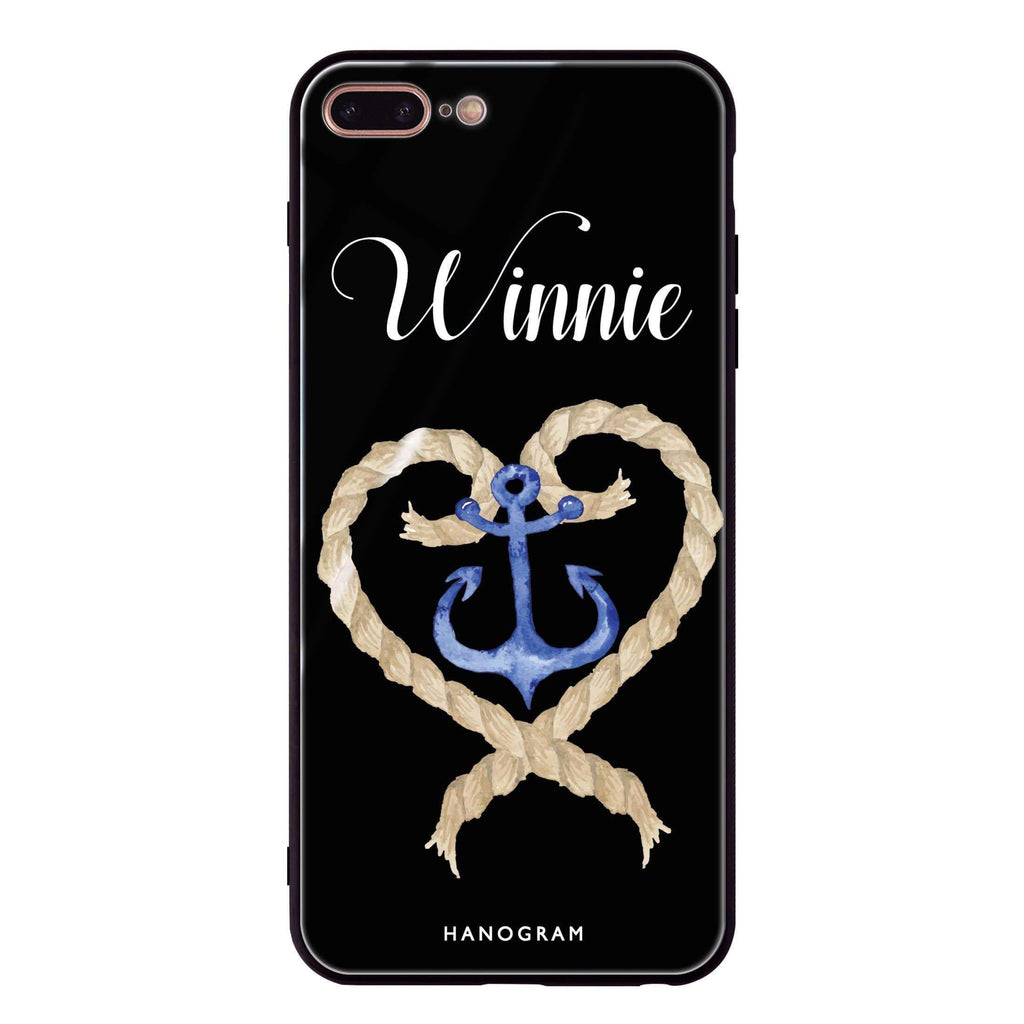 Heart & Anchor iPhone 8 Plus Glass Case