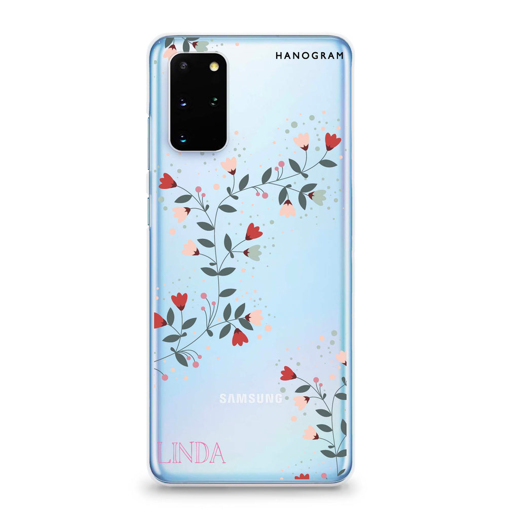 Floral Chain Samsung S20 Plus Soft Clear Case