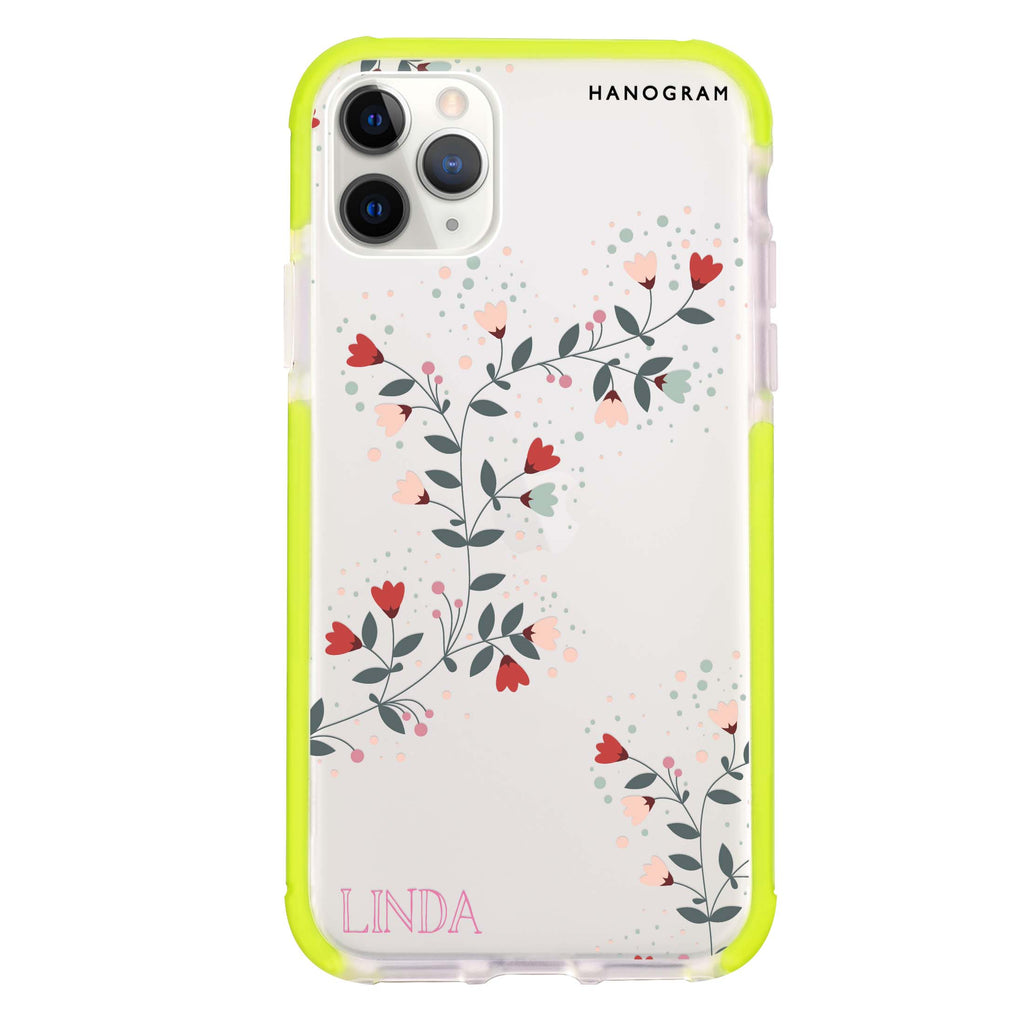 Floral Chain Shockproof Bumper Case