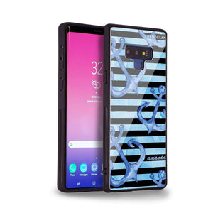 Blue Anchor Samsung Note 9 Glass Case