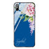 Tropical Floral II Princess Blue Glass Case