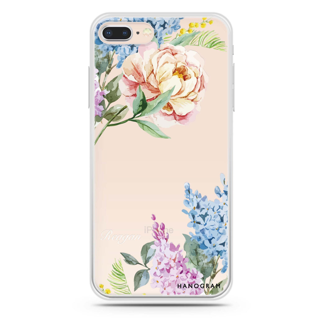 Tropical Floral iPhone 8 Soft Clear Case