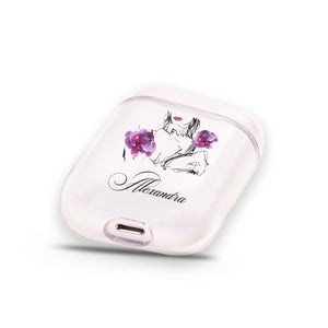 Floral Makeup Airpods Case