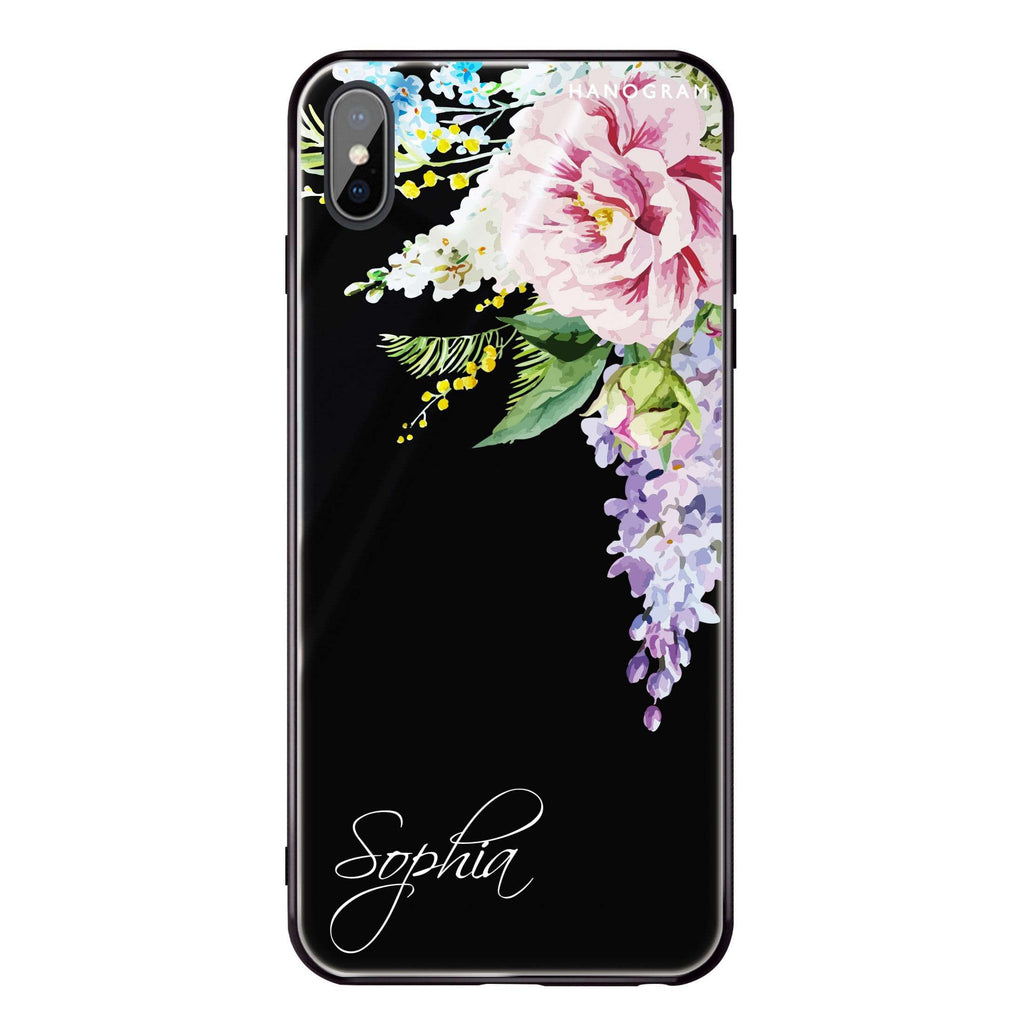 Tropical Floral II iPhone XS Max Glass Case