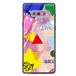 Trendy Abstract III Samsung Note 9 Glass Case