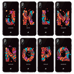 Marble Monogram iPhone XS Max Glass Case