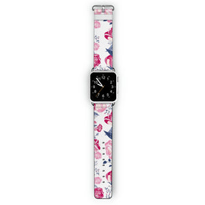 Trendy Flowers - Frosted Bumper Case and Watch Band