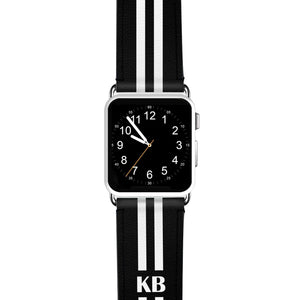 Black and white Stripes APPLE WATCH BANDS