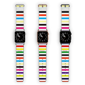 colorful stripe APPLE WATCH BANDS
