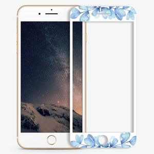 Tropical Flowers Artistic Skin Screen Protector For iPhone