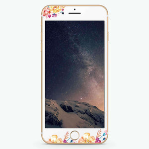 Art of Flowers Artistic Skin Screen Protector For iPhone