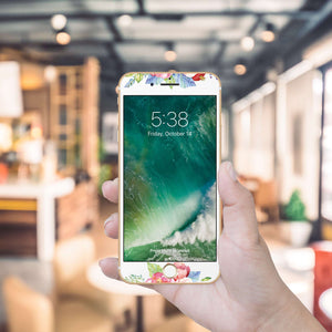Watercolor Flowers Artistic Skin Screen Protector For iPhone