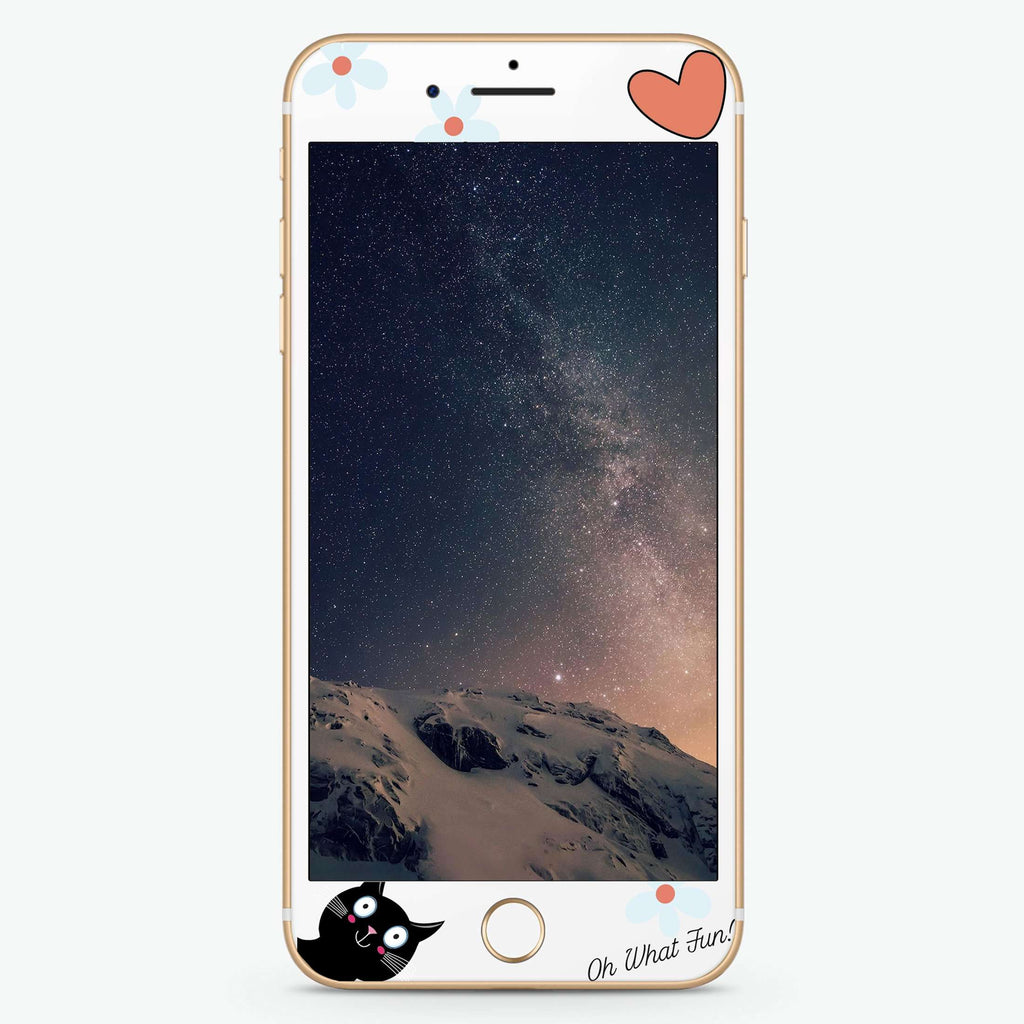 Fun Cat Artistic Skin Screen Protector For iPhone