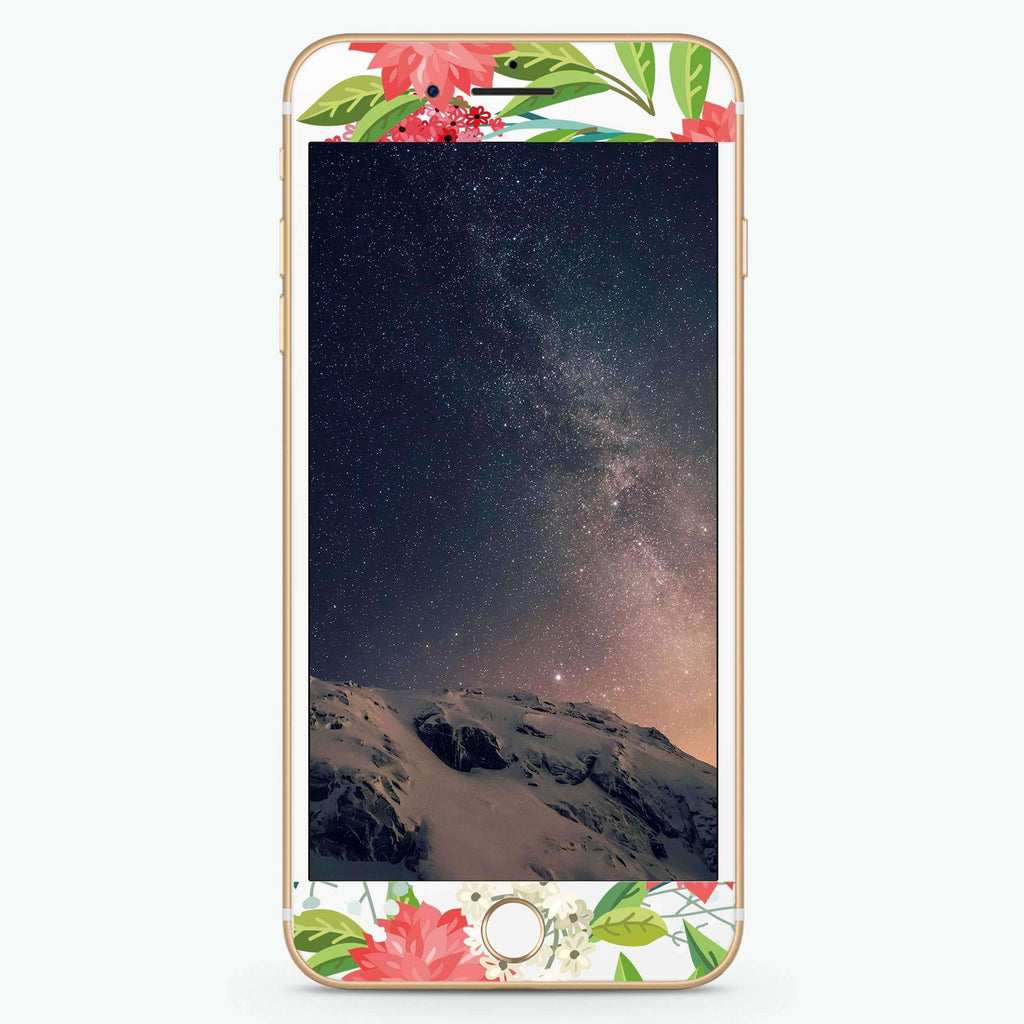 Flower Garden Artistic Skin Screen Protector For iPhone