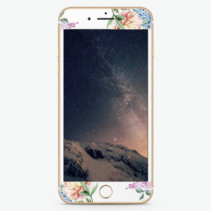 Tropical Floral Artistic Skin Screen Protector For iPhone
