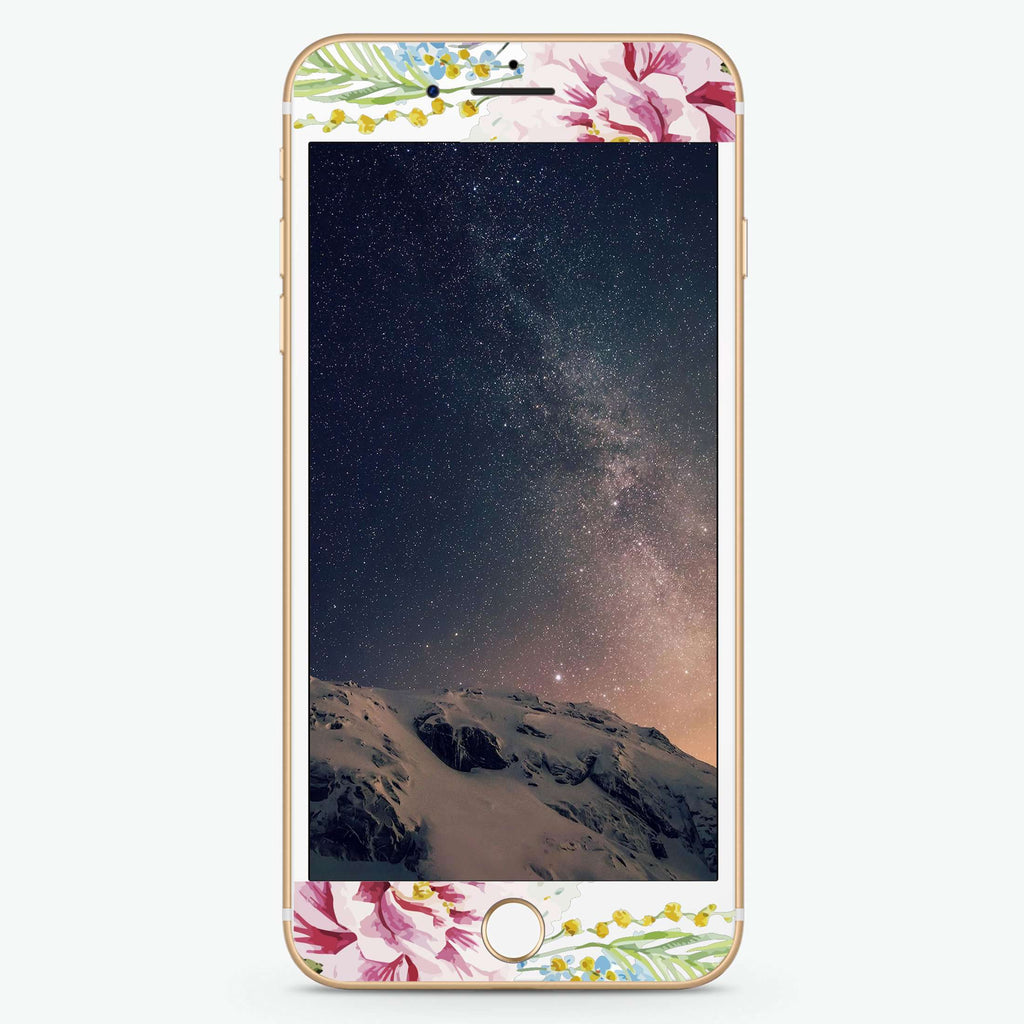 Tropical Floral II Artistic Skin Screen Protector For iPhone