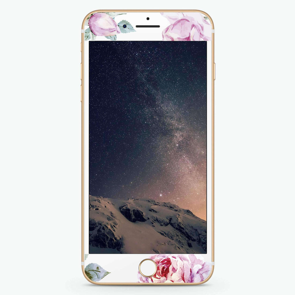 Classic Floral Artistic Skin Screen Protector For iPhone
