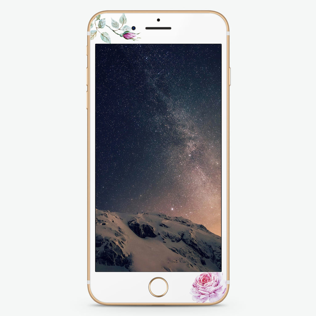 Simple Floral Artistic Skin Screen Protector For iPhone