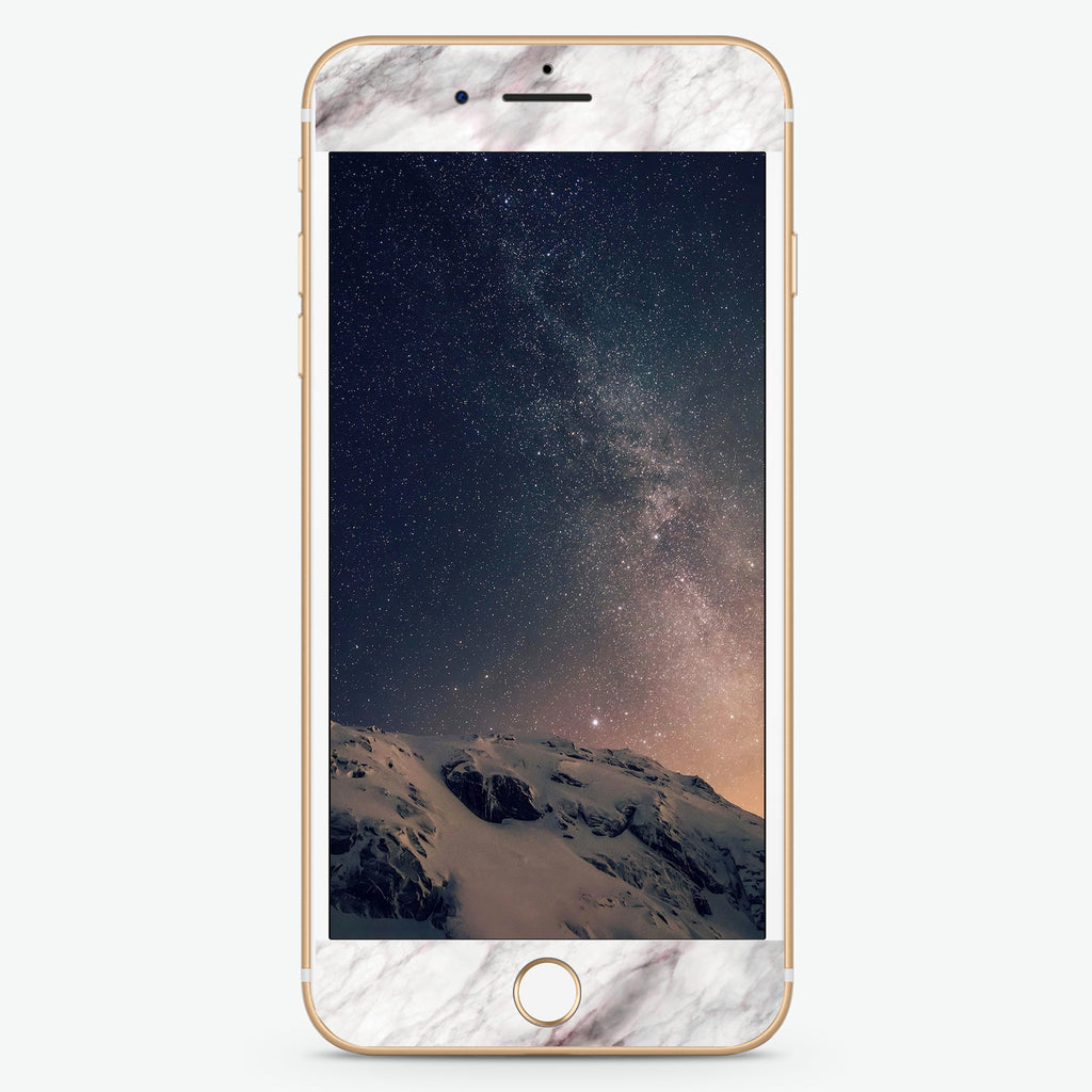 White Marble Artistic Skin Screen Protector For iPhone