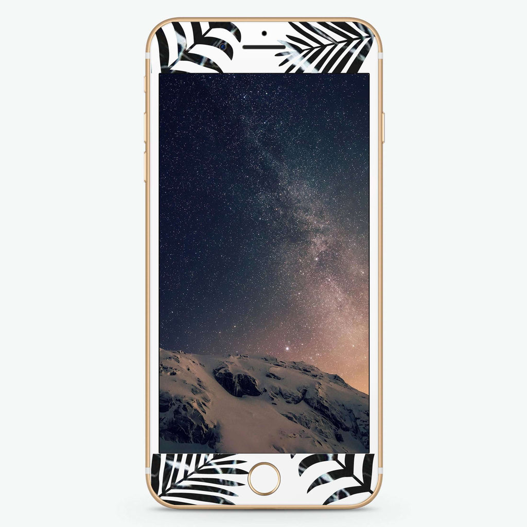 Marble Floral Artistic Skin Screen Protector For iPhone