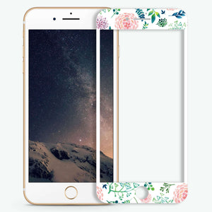 Paint Flower Artistic Skin Screen Protector For iPhone